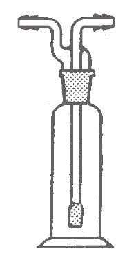 Frasco lavador de gases con dedal difusor de vidrio