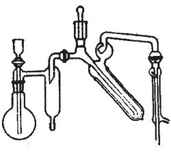 Aparato kjeldahl semi-micro según Parnas Wagner.