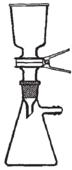Soporte para filtros de 47 mm. con macho y kitasatos para vacío