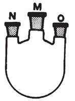 Matraz esférico con tres bocas paralelas