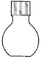 Matraz esférico fondo plano con tapón de rosca