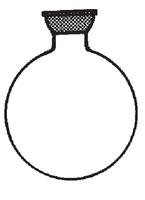 Matraz esférico cuello corto con rótula